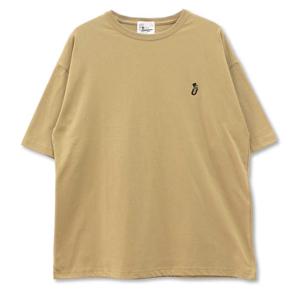 UPTOWN BIG Tee ONE POINT アップタウン ビッグ Tシャツ ワンポイント BEIGE/BLACK