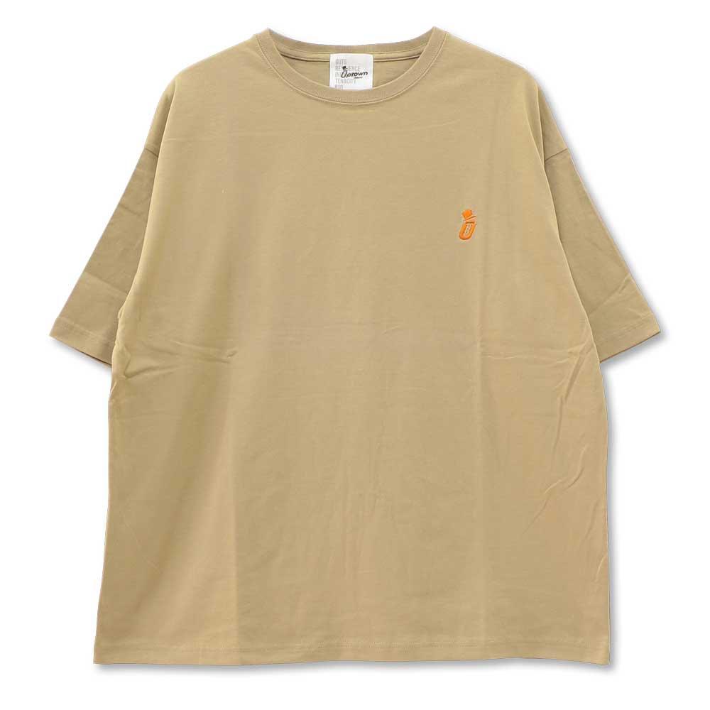 UPTOWN BIG Tee ONE POINT アップタウン ビッグ Tシャツ ワンポイント BEIGE/ORANGE