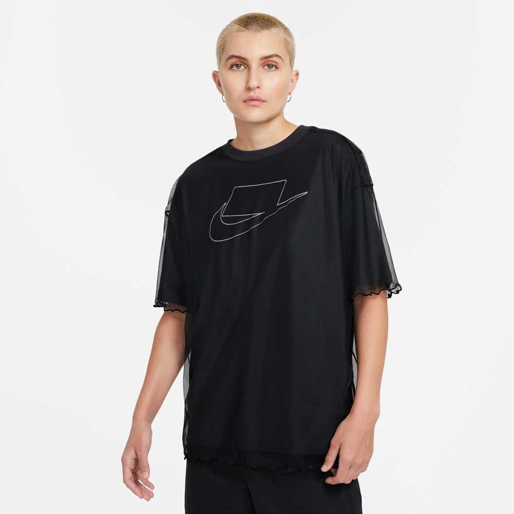 ナイキ ウィメンズ NSW チュール ショートスリーブ Tシャツ NIKE WMNS NSW TULLE S/S T-sh DD4530-010