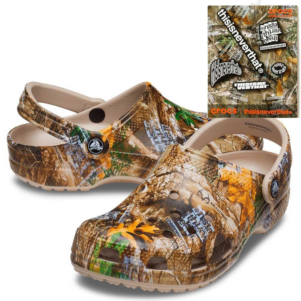 ディスイズネバーザット x クロックス クラシック クロッグ ウィズ ジビッツ 5 パック thisisneverthat X Crocs CL Clog with Jibbitz 5 Pack