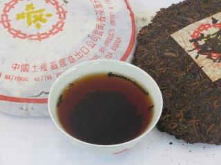 2004年 普シ耳茶餅(プーアル茶餅)熟茶