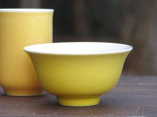 三希 金黄釉 茶杯