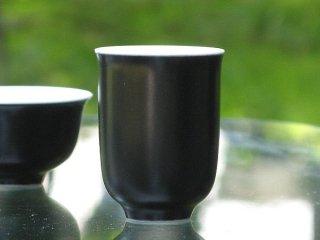三希 黒釉 聞杯