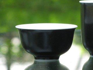 三希 黒釉 茶杯