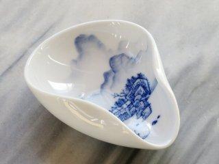 三希 手書き茶荷(山水)