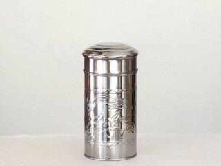 茶缶ステンレス 筒型