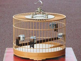 竹製高級円形鳥篭