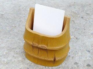 竹段 名刺立て(紫砂製)