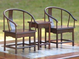 ミニチュア中国家具 紫檀 圏椅