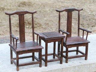 ミニチュア中国家具 鶏翅木 官帽椅