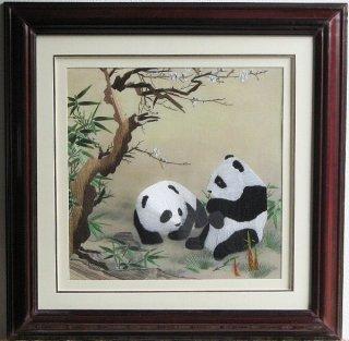 刺繍(パンダ)正方形