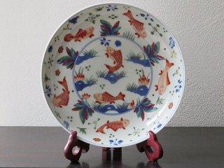 景徳鎮 魚藻紋盤