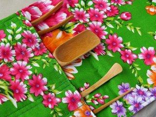 茶道具ケース(花布グリーン)
