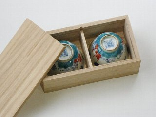 景徳鎮茶杯用桐箱(小)