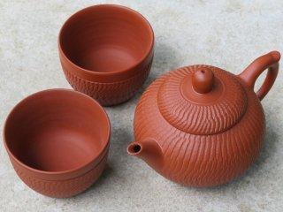 林國立 朱泥茶壺+茶杯2客