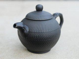 林國立 黒泥茶壺(3856)