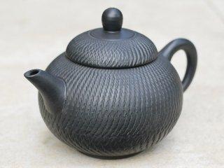 林國立 黒泥茶壺(3860)