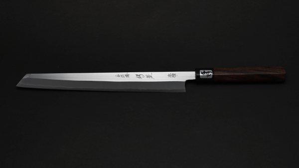 左刃 本種子島 切付柳刃 紫檀柄<br>Left Handed Tanegashima Kiritsuke Yanagiba Rosewood Handle