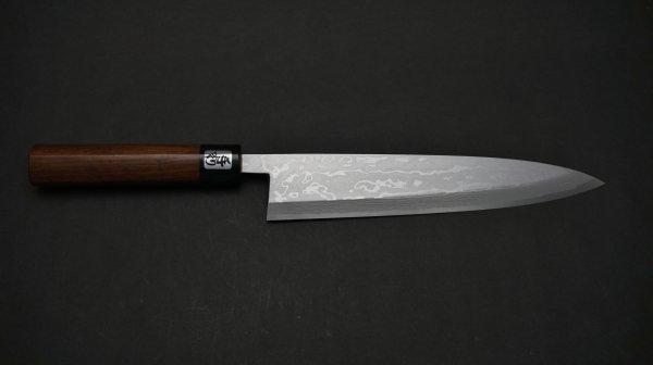35積層 白二鋼 身おろし出刃 紫檀柄<br>35 Damascus White #2 Mioroshi Deba Rosewood Handle