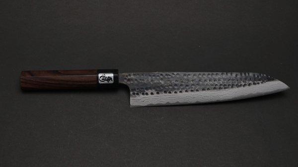 黒龍 牛刀 紫檀柄<br>Blue #2 Kokuryu Gyuto Rosewood Handle