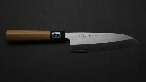 粉末ハイス鋼 三徳 朴柄<br>Powder Steel Santoku Magnolia Handle