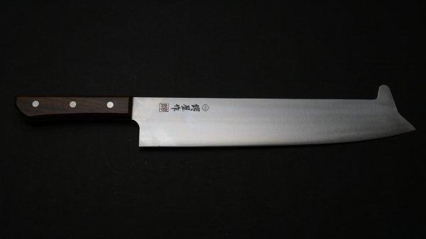 特殊鋼 冷凍切 木柄 (角付)<br>Tokushu-Ko Frozen Cut Knife Wood Handle (Tsuno)