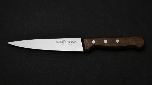 つば屋 業務用 骨スキ 木柄<br>Tsubaya Professional Honesuki Kaku Wood Handle