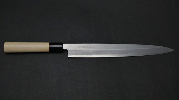 サビニクイ 柳刃 朴柄<br>Stainless Yanagiba Magnolia Handle
