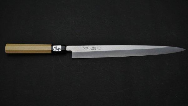 銀三鋼 フグ引 朴柄<br>Ginsan Fugubiki Magnolia Handle