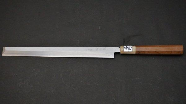 左刃 銀三鋼 蛸引 朴柄<br>Left Handed Ginsan Takobiki Magnolia Handle