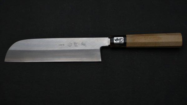 左刃 銀三鋼 鎌形薄刃 朴柄<br>Left Handed Ginsan Kamagata Usuba Magnolia Handle