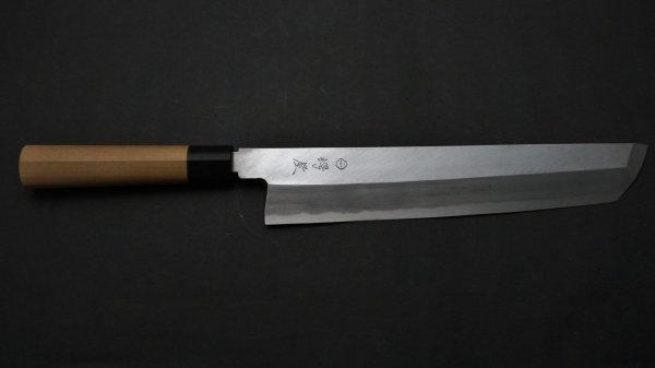 白二鋼 普及品 骨切 朴柄<br>White #2 Honesuki Magnolia Handle