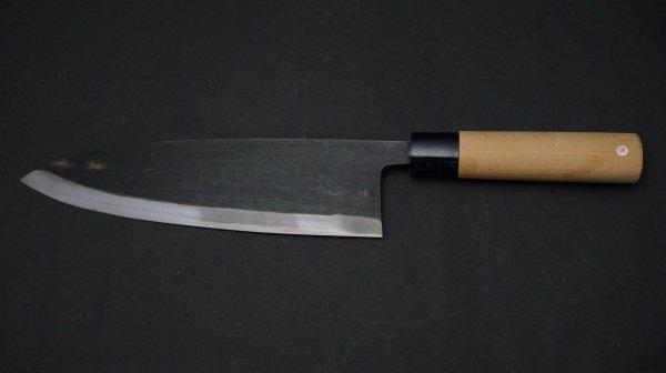 左刃 白二鋼 普及品 サケ切 朴柄<br>Left Handed White #2 Salmon Knife Magnolia Handle