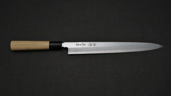 本鍛錬 柳刃 朴柄<br>Hontanren Yanagiba Magnolia Handle