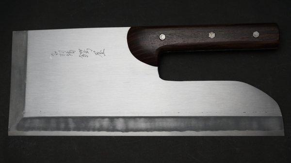 左刃 白ニ鋼 上仕上 麺切 紫檀柄 (直柄)<br>Left Handed White #2 Pro Menkiri Rosewood Handle (Straight)