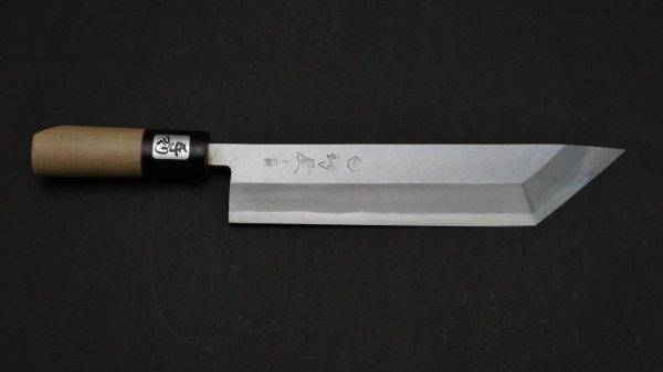 青ニ鋼 上仕上 江戸裂き 朴柄<br>Blue #2 Pro Tokyo Eel Knife Magnolia Handle