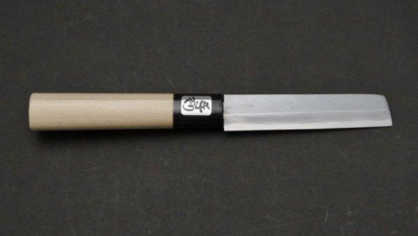 青ニ鋼 上仕上 名古屋裂き 朴柄<br>Blue #2 Pro Nagoya Eel Knife Magnolia Handle