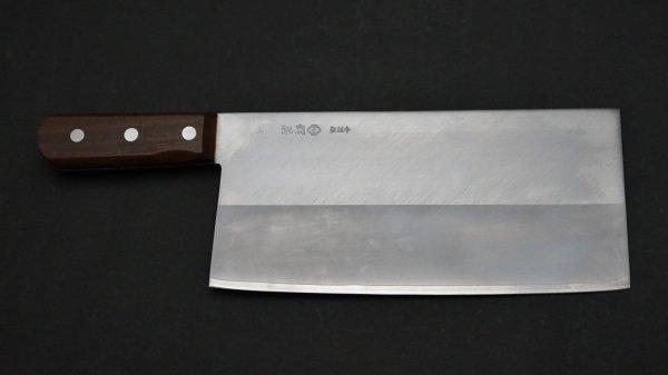 つば屋 中華包丁 紫檀柄 (#6)<br>Tsubaya Chinese Cleaver Rosewood Handle (#6)