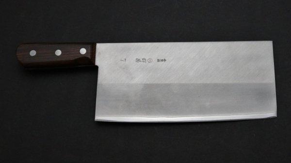 つば屋 中華包丁 紫檀柄 (#7)<br>Tsubaya Chinese Cleaver Rosewood Handle (#7)
