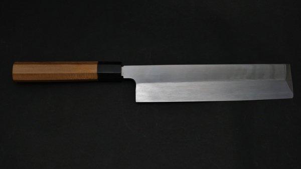 本焼 安来鋼 薄刃 イチイ柄<br>Honyaki Yasuki Hagane Usuba Yew Wood Handle