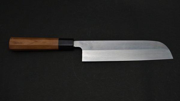 本焼 安来鋼 鎌形薄刃 イチイ柄<br>Honyaki Yasuki Hagane Kamagata Usuba Yew Wood Handle