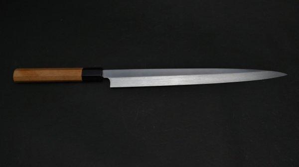 本焼 安来鋼 フグ引 欅柄<br>Honyaki Yasuki Hagane Fugubiki Zelkova Handle