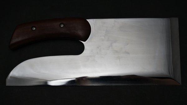 白二鋼 別打 麺切 紫檀柄 (鏡面)<br>White #2 Special Menkiri Rosewood Handle (Mirror Polished)