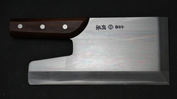 モリブデン鋼 うどん切 紫檀柄 (直柄)<br>Molybdenum Udon Rosewood Handle (Straight)