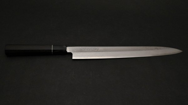 田中 誠貴 V金10号 積層 柳刃 黒檀柄<br>Tanaka VG10 Damascus Yanagiba Ebony Handle