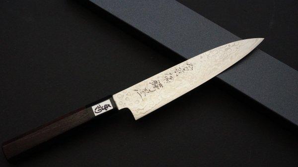 吉田刃物 ZDP-189 21層 和式柄 ペティ 紫檀柄<br>Yoshida ZDP-189 21 Damascus Wa-handle Petty Rosewood Handle