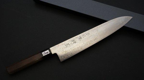 吉田刃物 ZDP-189 21層 和式柄 牛刀 紫檀柄<br>Yoshida ZDP-189 21 Damascus Wa-handle Gyuto Rosewood Handle