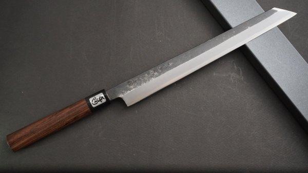 本種子島 切付柳刃 紫檀柄 (黒)<br>Tanegashima Kiritsuke Yanagiba Rosewood Handle (Kurouchi)