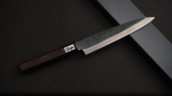 吉田刃物 ZDP-189 黒打 和式柄 ペティ 紫檀柄<br>Yoshida ZDP-189 Kurouchi Wa-handle Petty Rosewood Handle