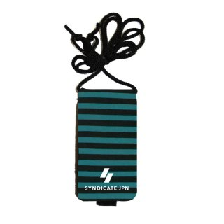 【SYNDICATE】NEOPRENE KEY CASE Blue Stripe